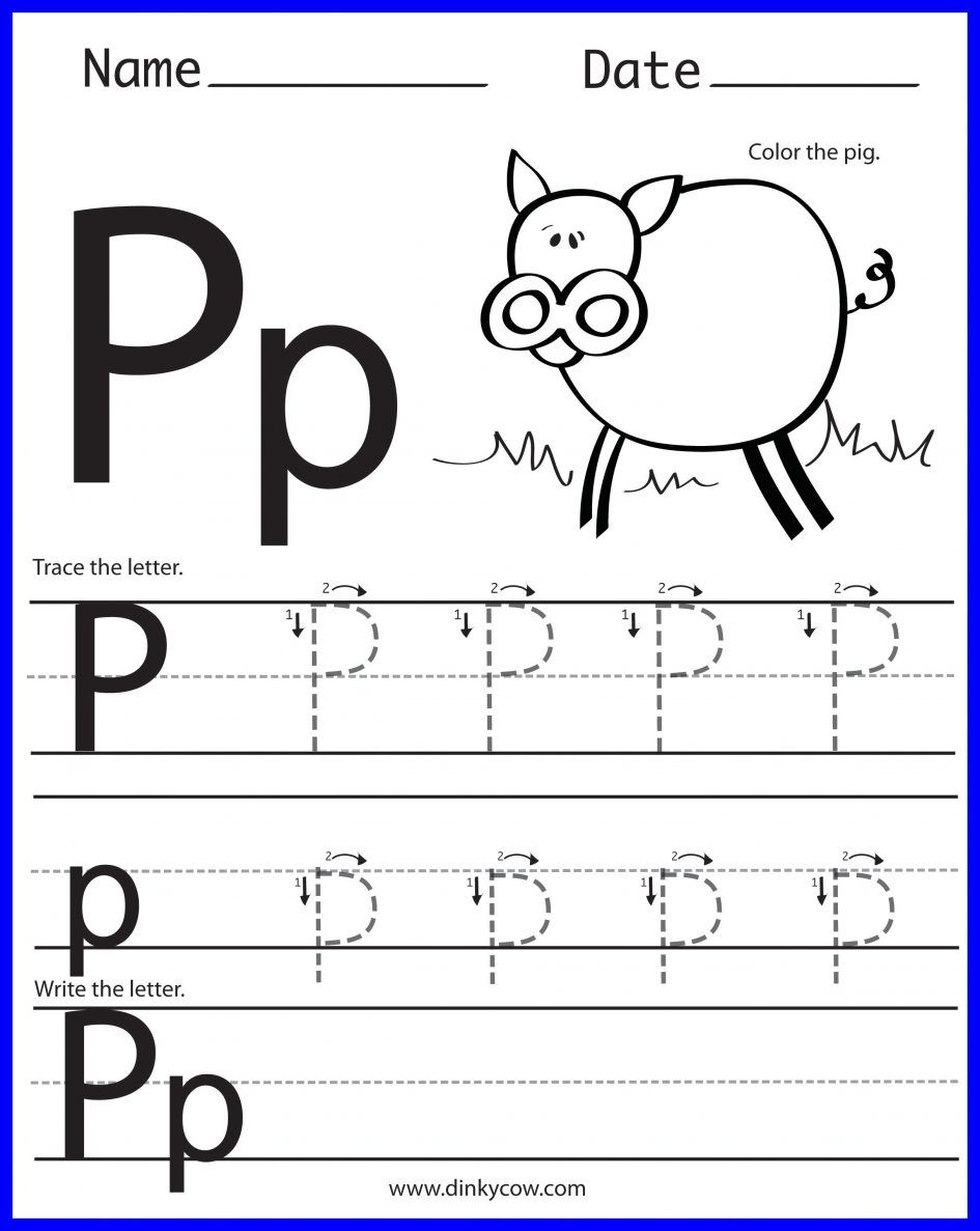 14 Constructive Letter P Worksheets | Kittybabylove in Tracing Letter P Worksheets