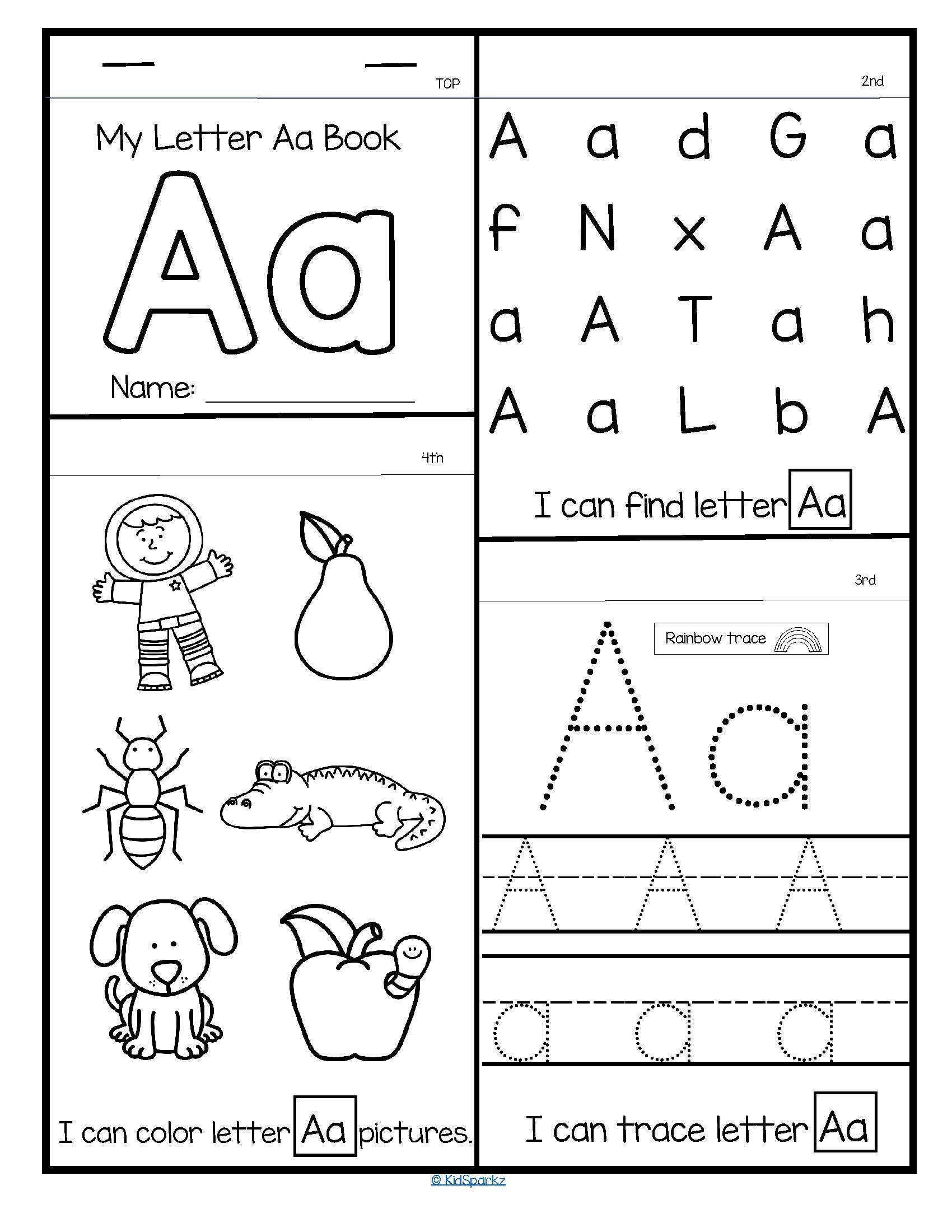 26 Alphabet Flip Books - Letter Recognition, Tracing And Sounds inside Tracing Letters Booklet