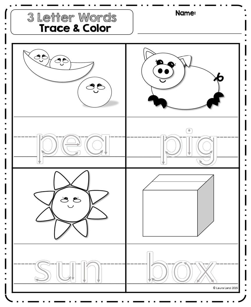 3 Letter Words Puzzles | 3 Letter Words, Teaching for Tracing Three Letter Words Worksheets