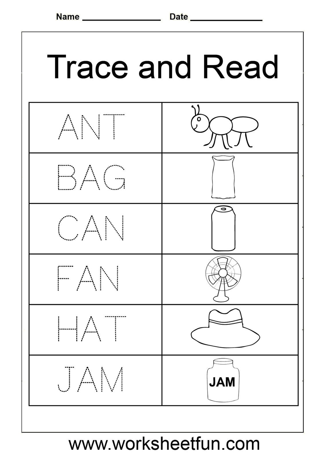 3 Letter Words | Spelling Worksheets, Kindergarten regarding Tracing Three Letter Words Worksheets