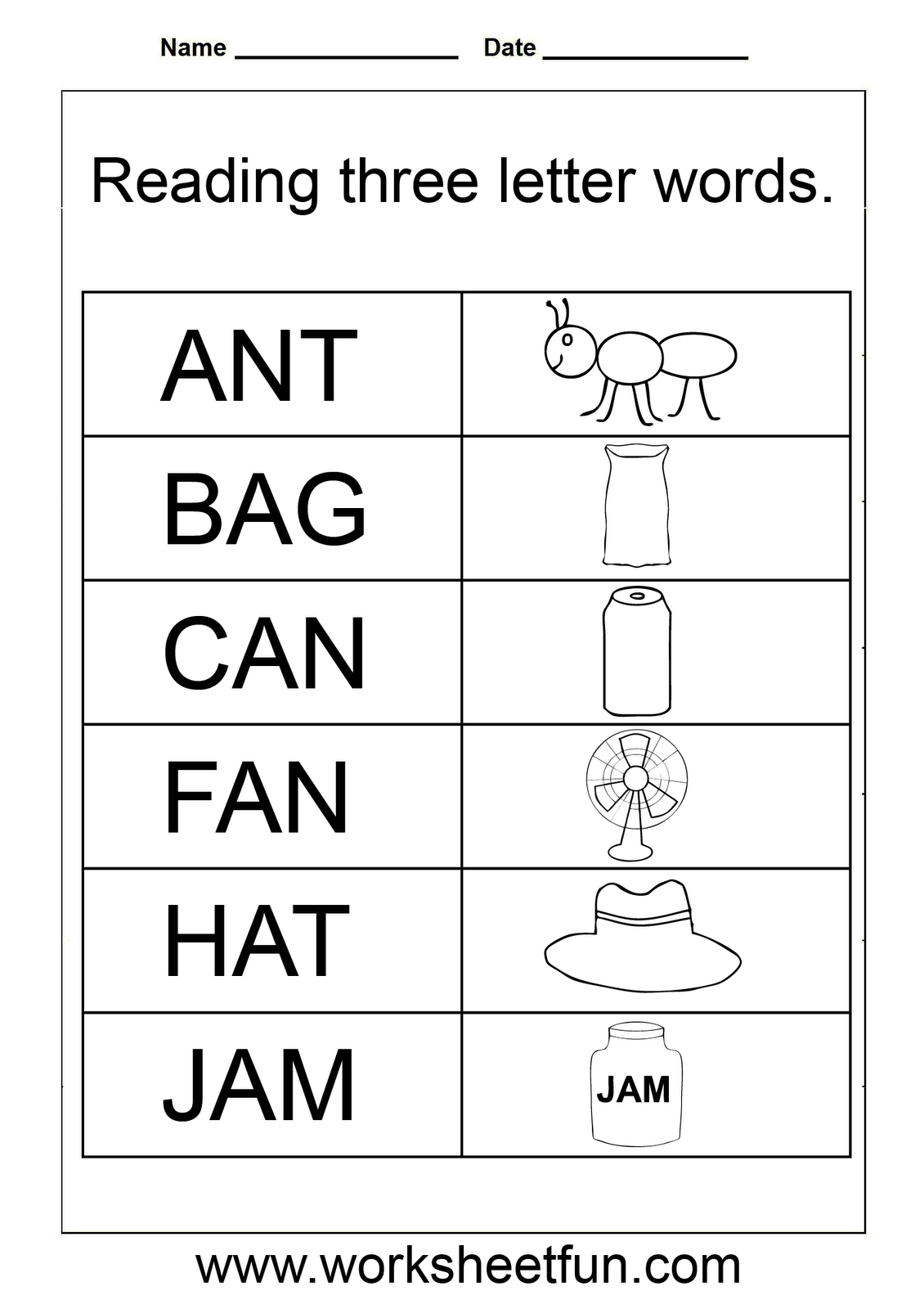3 Letter Words Worksheets For Kindergarten | Spelling for Tracing 3 Letter Words Worksheets