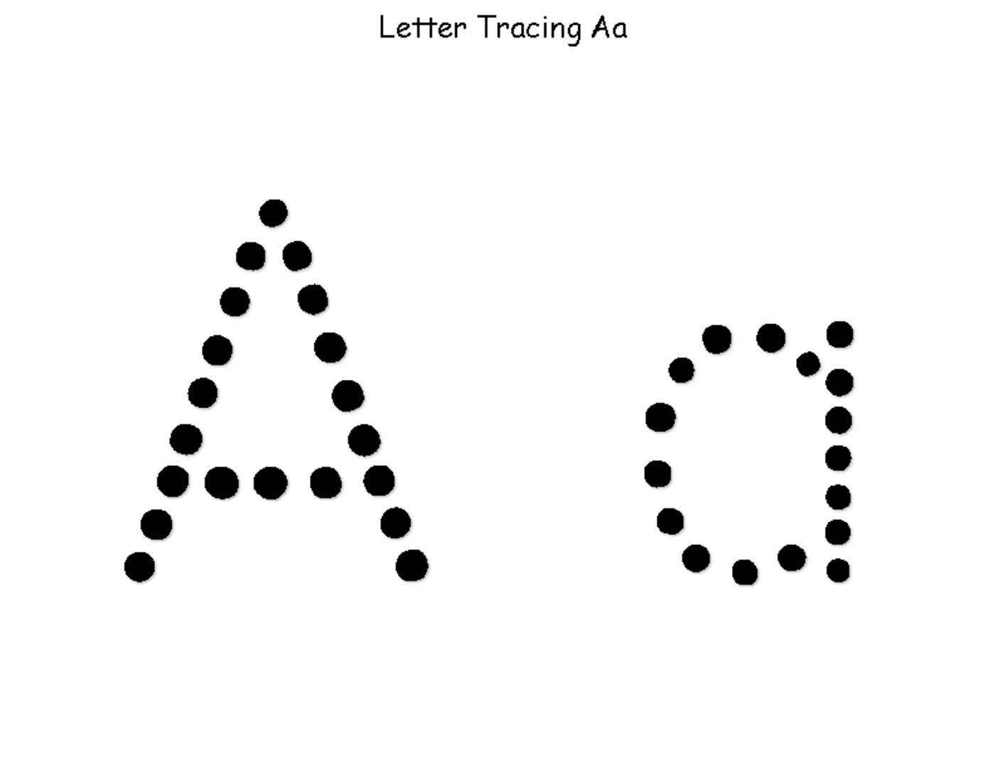 482 Letter A Free Clipart regarding Tracing Letters Clipart