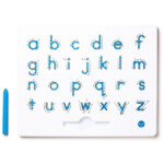 A To Z Magnatab Lowercase Letters Kid O | Lowercase A, Lower throughout Tracing Letters With Directional Arrows Font