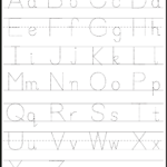 Abc & 123 Tracking Pages For Letters & Numbers | Letter within Printable Abc Tracing Letters