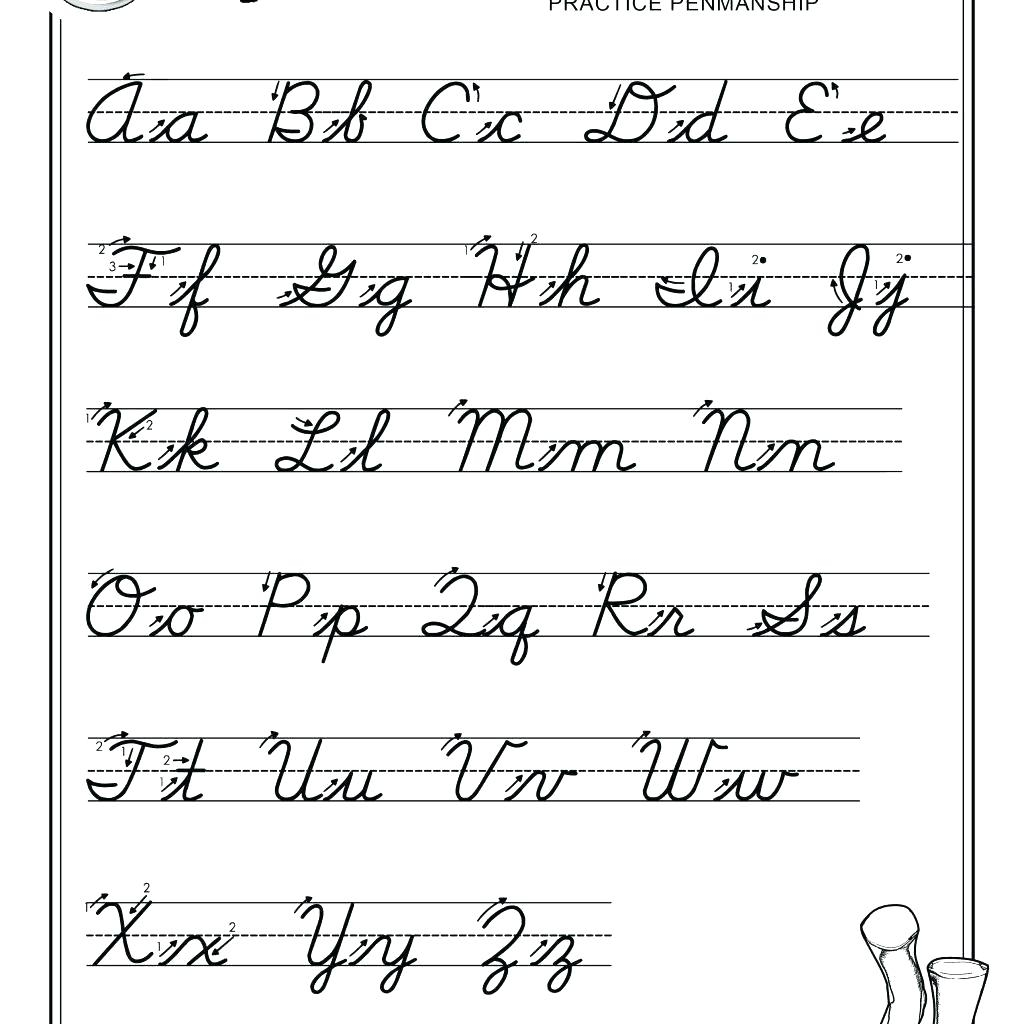 Abc Printable Worksheets – Giftedpaper.co in Abcs Tracing Cursive Letters
