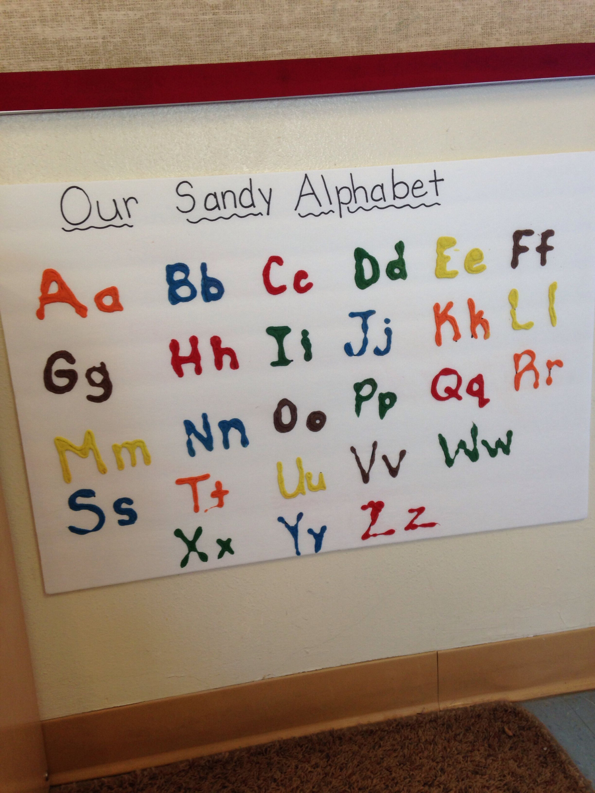 Abc Texture Board. Write Out The Letters. Have The Children inside Sand Tracing Letters
