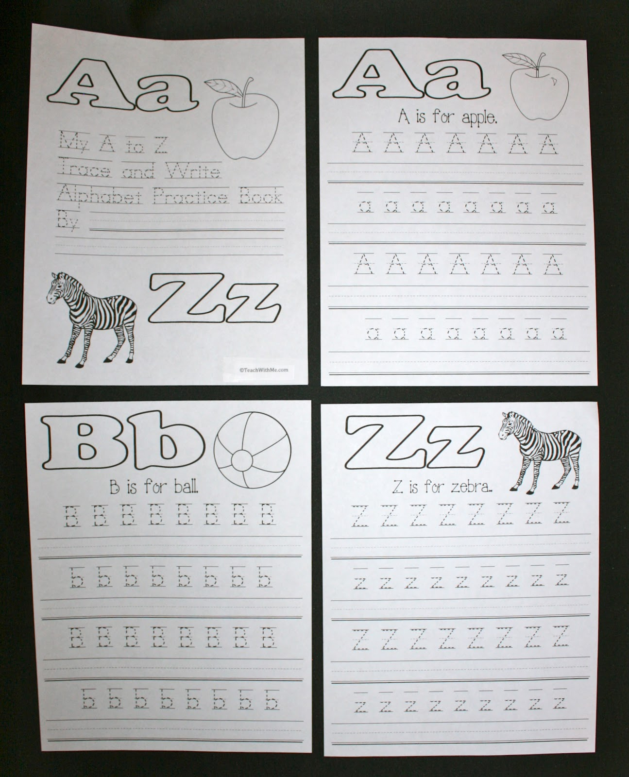 Abc Trace And Write Upper And Lowercase Letter Booklet pertaining to Tracing Letters Booklet