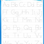 Alphabet Letters Tracing Worksheet With All Alphabet Letters with Tracing Worksheets For Kindergarten On Letters