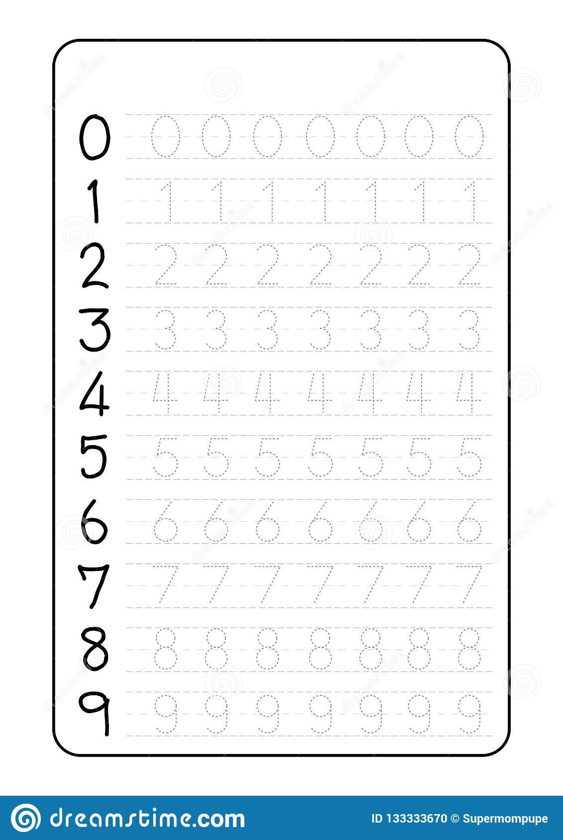 Tracing Letters And Numbers | TracingLettersWorksheets.com