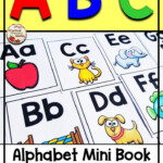 Alphabet Mini Book With Simple Pictures For Letter Name And within Finger Tracing Alphabet Letters