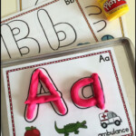 Alphabet Playdough Mats | Schule Deutsch | Kinder Lernspiele within Tracing Letters With Playdough
