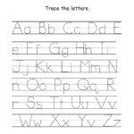 Alphabet Tracing For Kids A-Z | Activity Shelter for How To Make Tracing Letters