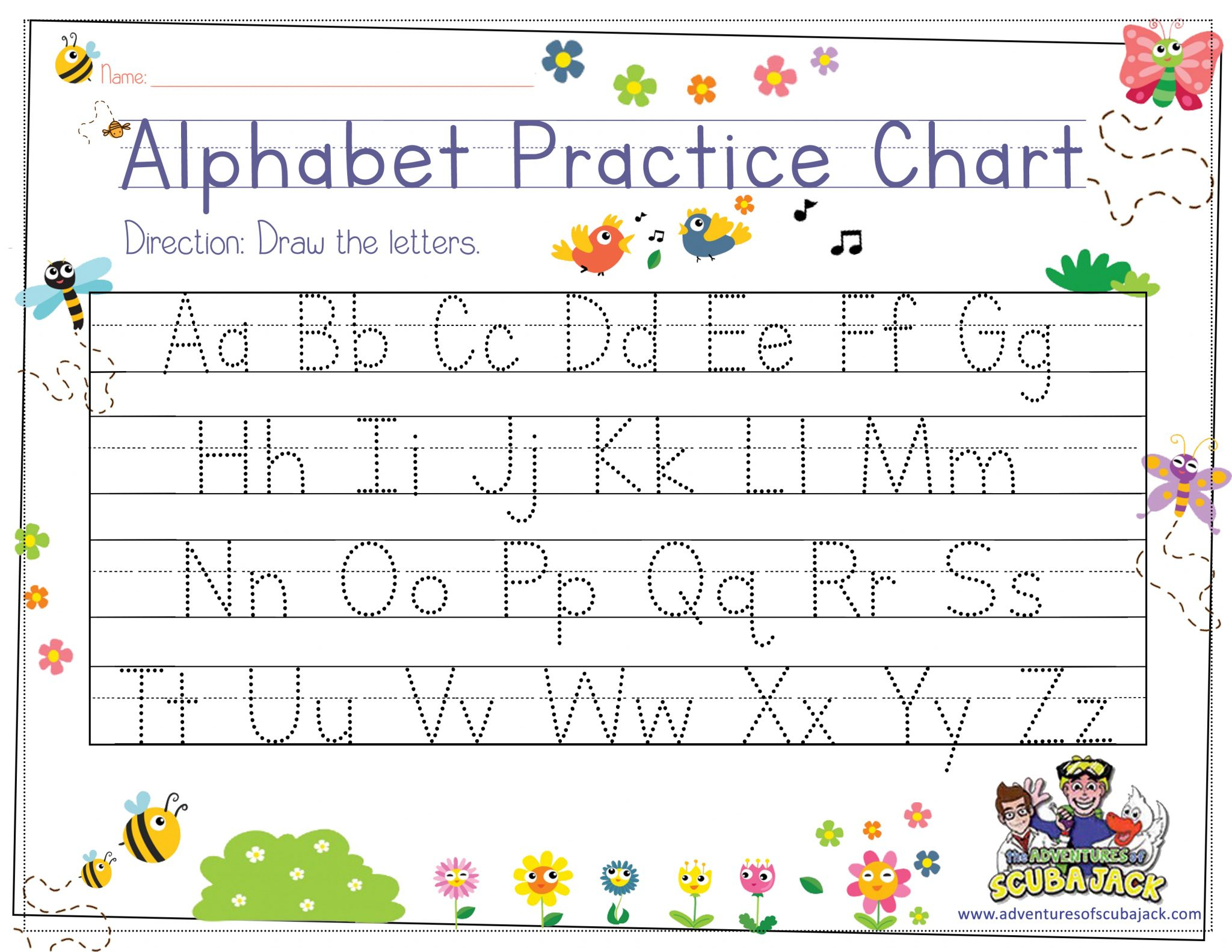 Alphabet Tracing For Preschoolers | The Preschool Adventures in How To Teach Tracing Letters