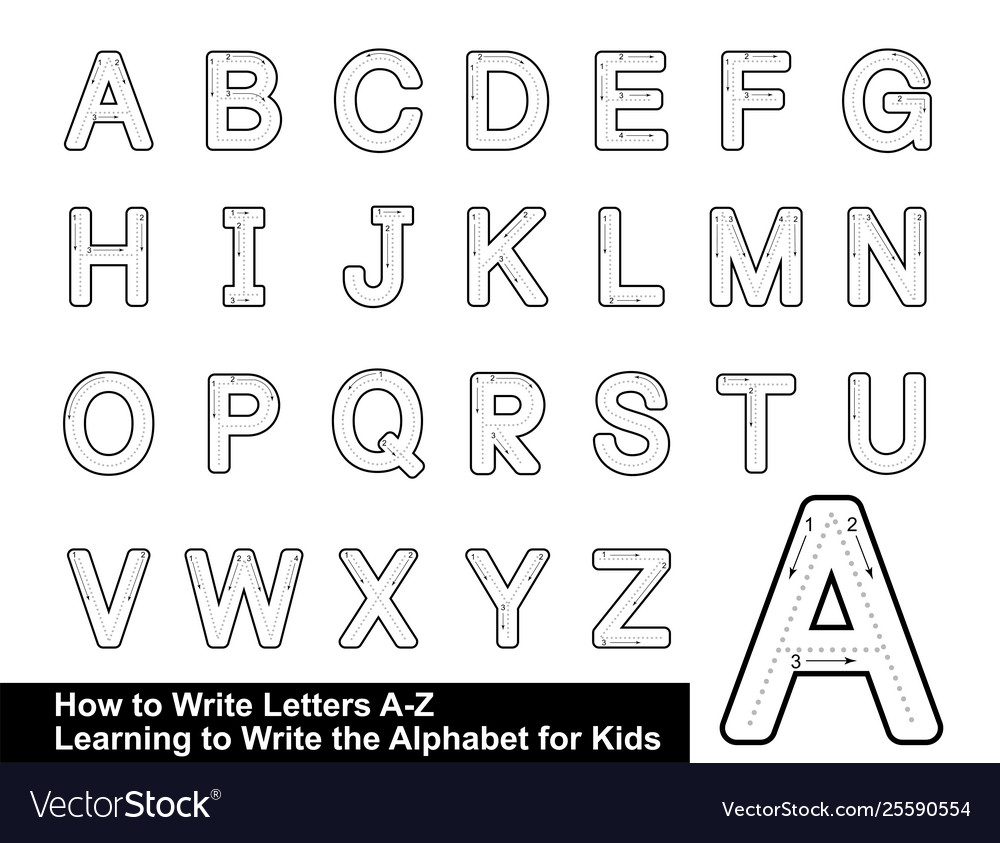 Alphabet Tracing Letters Step Step regarding Tracing Letters Font Download