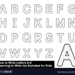 Alphabet Tracing Letters Step Step within Tracing Letters Font