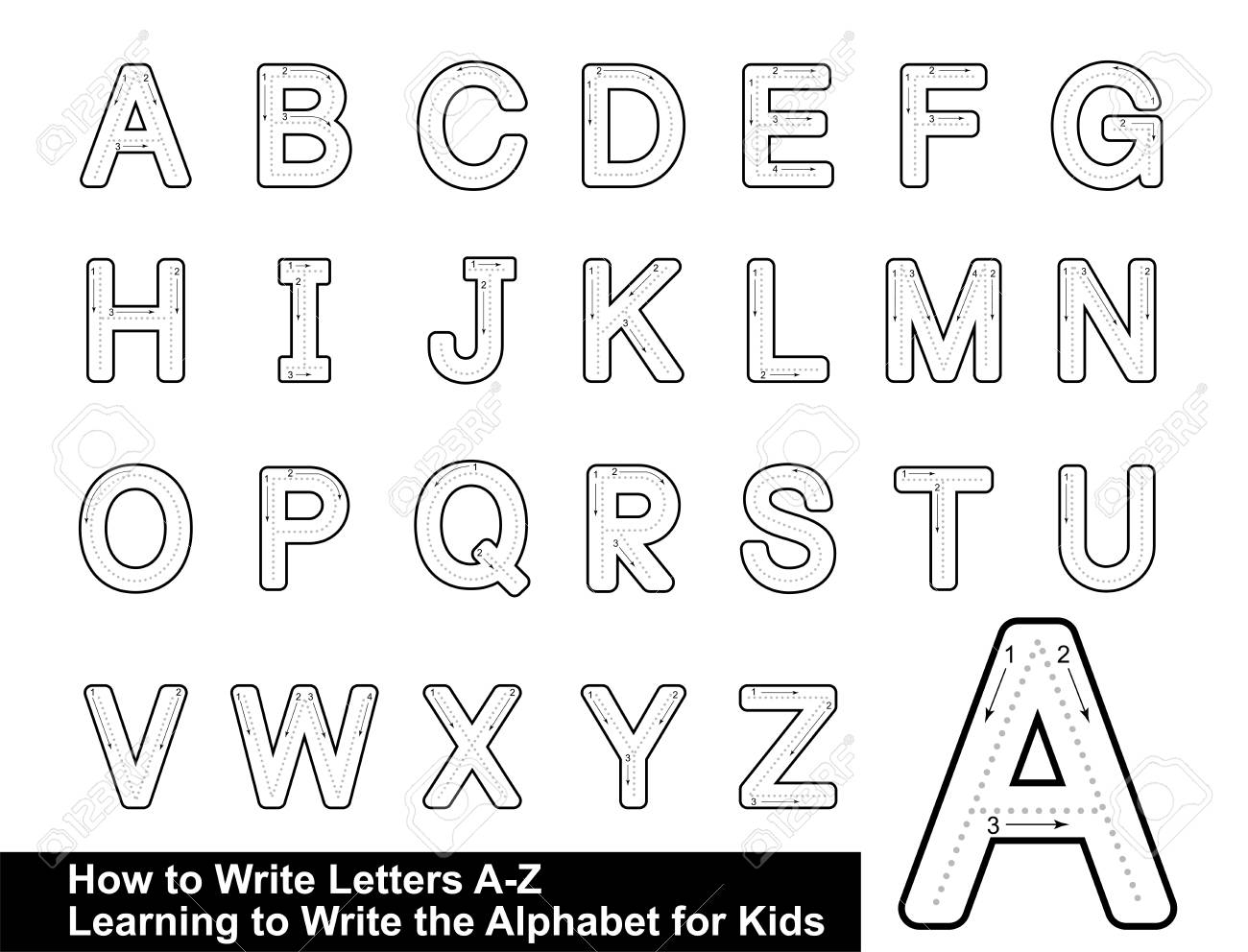 Alphabet Tracing Letters Stepstep Letter Tracing Write The.. within Tracing Letters With Pictures
