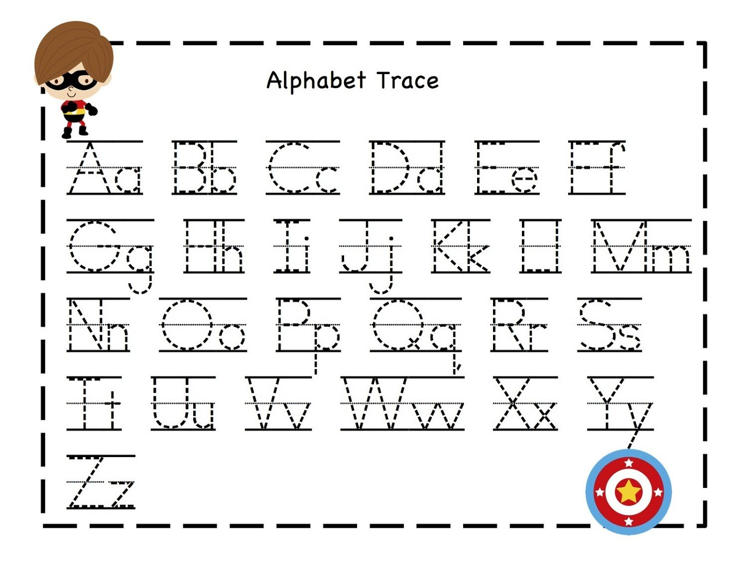 Alphabet Tracing Pages For Kids' Exercise! | Dear Joya pertaining to Practice Tracing Alphabet Letters