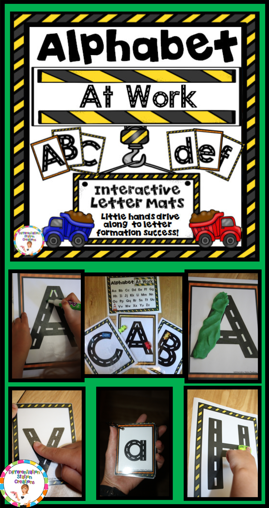 Alphabet Tracing Posters: Road And Transportation Themed inside Tracing Letters With Fingers