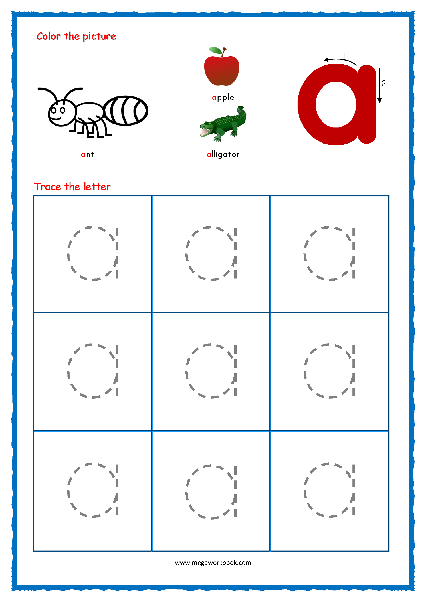 Alphabet Tracing - Small Letters - Alphabet Tracing inside Tracing Small Letters Az