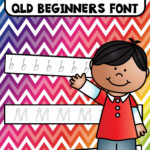 Alphabet Tracing Strips Qld Beginners Font | Alphabet within Qld Font Tracing Letters