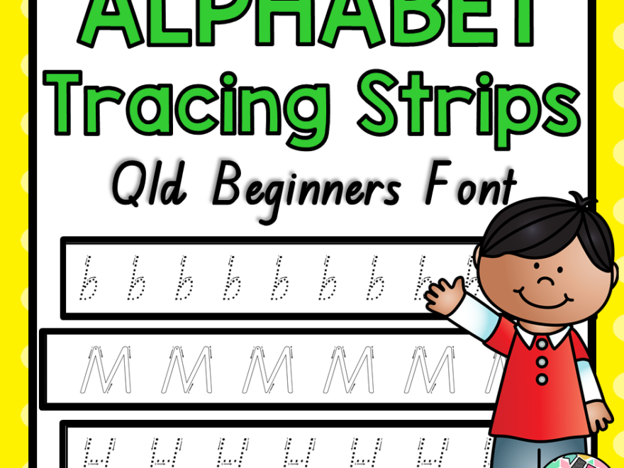 Alphabet Tracing Strips Qld Beginners Font pertaining to Qld Font Tracing Letters
