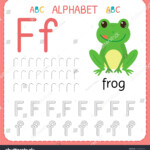 Alphabet Tracing Worksheet Preschool Kindergarten Writing regarding Tracing Letter F Worksheets Preschool