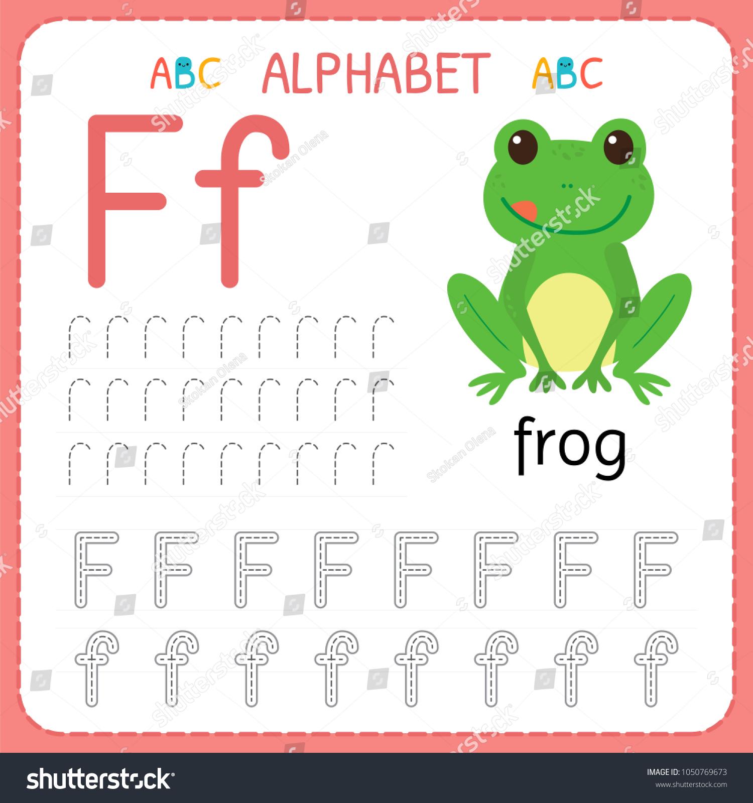 Alphabet Tracing Worksheet Preschool Kindergarten Writing regarding Tracing Letter F Worksheets Preschool