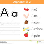 Alphabet Tracing Worksheet Stock Vector. Illustration Of within Tracing Letters A To Z Worksheets