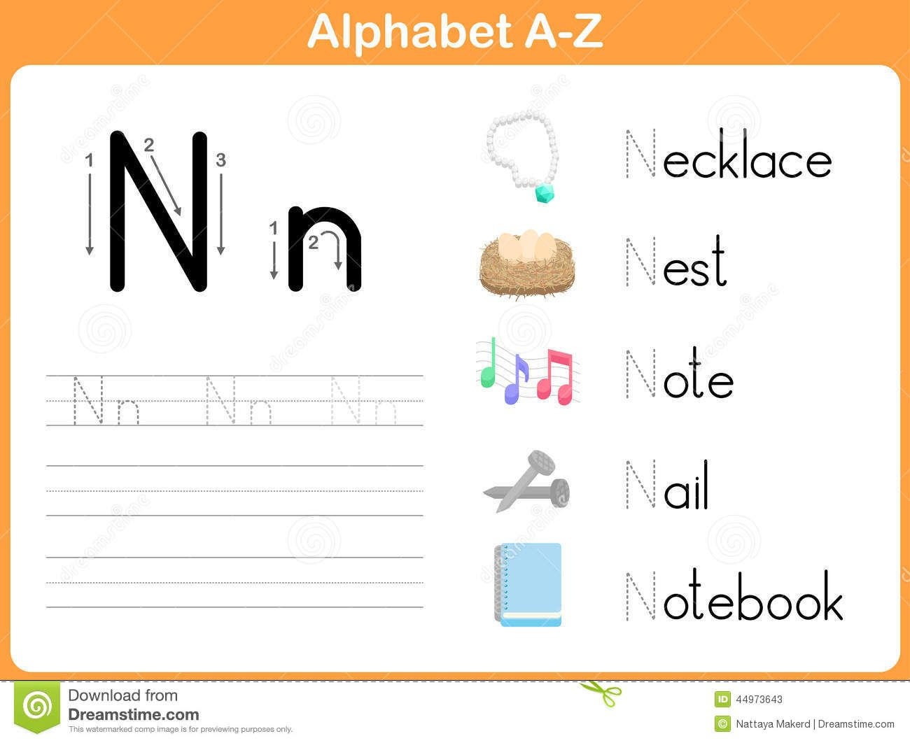 Alphabet Tracing Worksheet: Writing A-Z Stock Vector - Image pertaining to Tracing Letters Az Worksheets