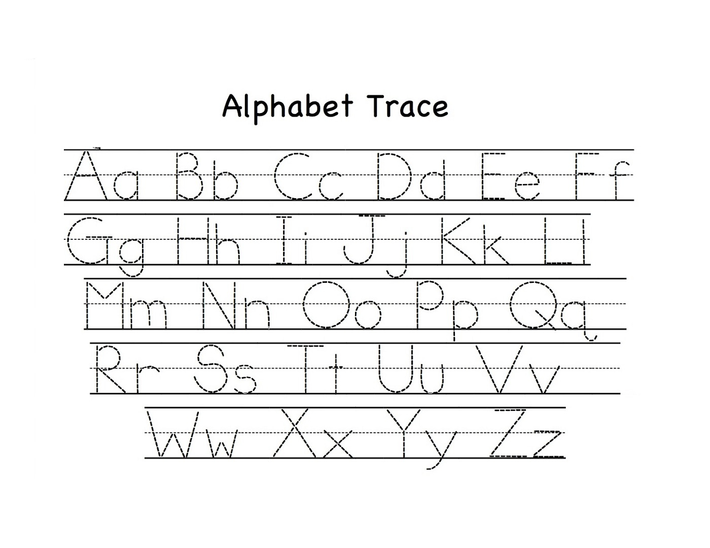 Alphabet Tracing Worksheets A-Z Printable | Loving Printable for Tracing Letters Worksheets A-Z