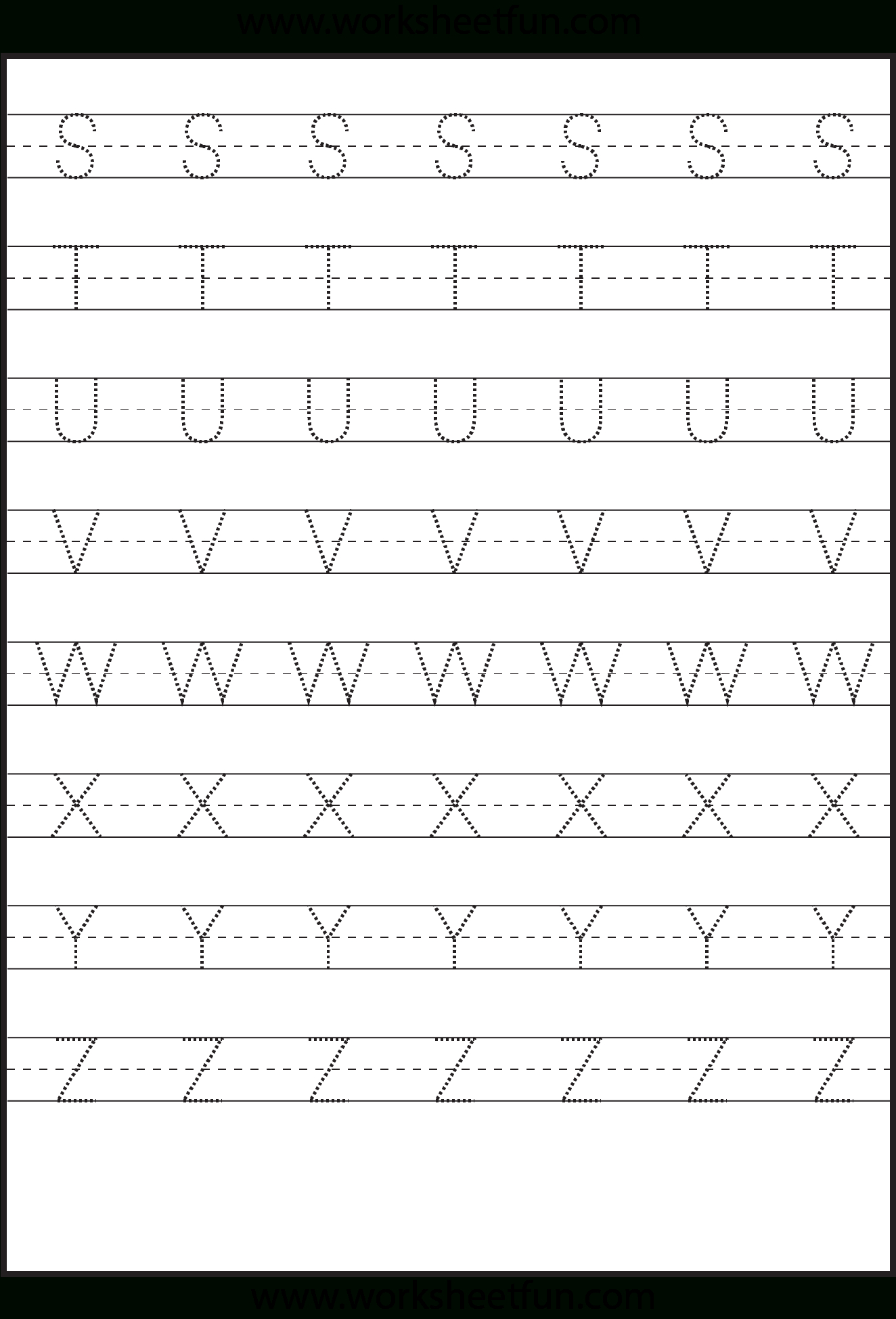 Alphabet Tracing Worksheets Small Letters Kids Jr Kg within Big Letters Alphabet Tracing Sheets