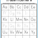 Alphabet Tracing Worksheets - Uppercase & Lowercase Letters for Uppercase And Lowercase Letters Tracing Worksheet