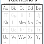 Alphabet Tracing Worksheets - Uppercase & Lowercase Letters intended for Tracing Letters Name