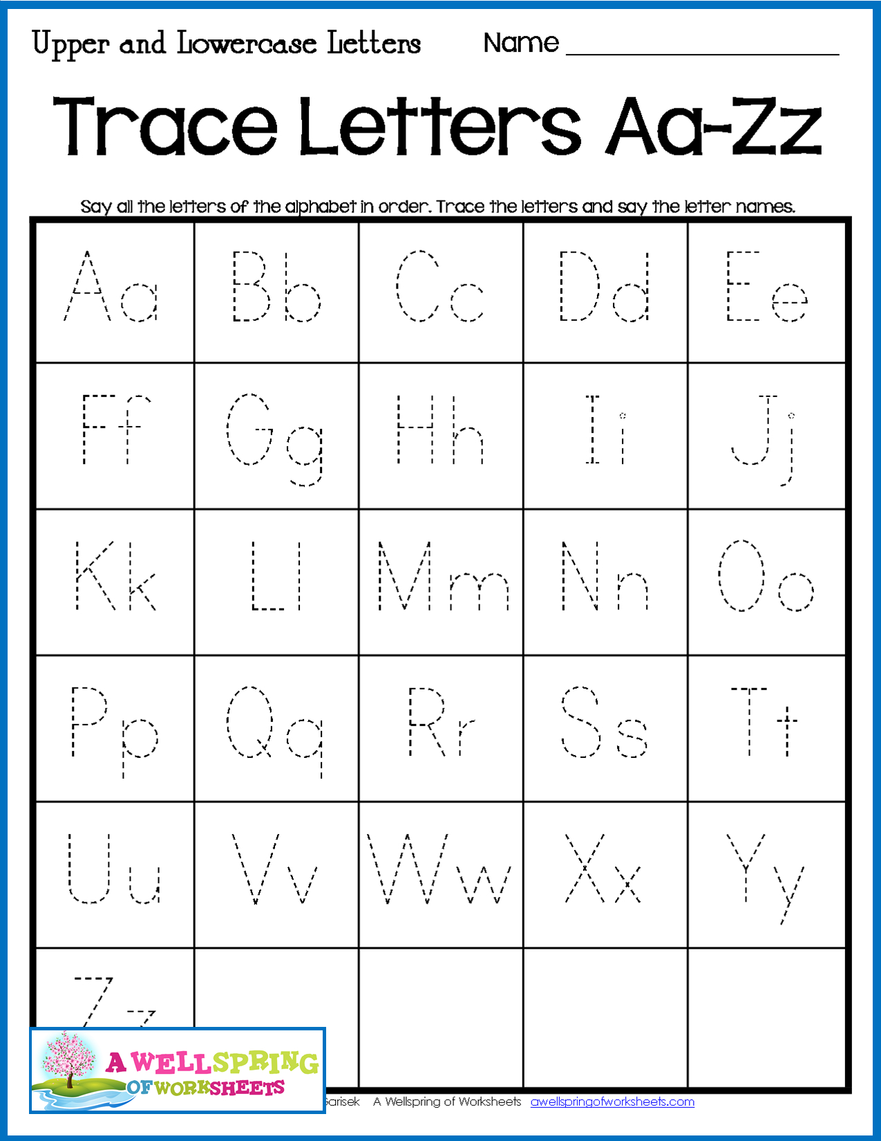 Alphabet Tracing Worksheets - Uppercase & Lowercase Letters throughout Tracing Upper And Lowercase Letters Worksheets