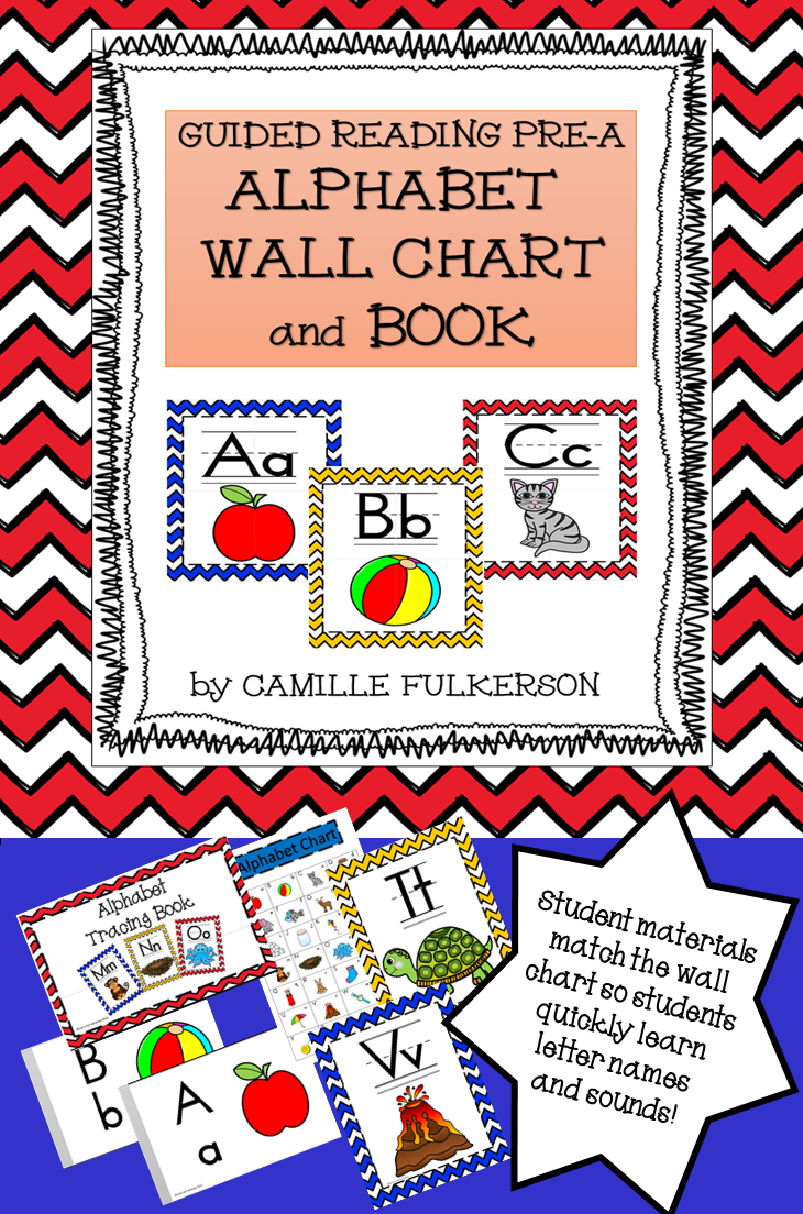 Alphabet Wall Chart And Tracing Book For Guided Reading inside Tracing Letters Booklet