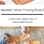Alphabet Wood Tracing Board Lowercase And/or Uppercase with regard to Tracing Letters On Wood