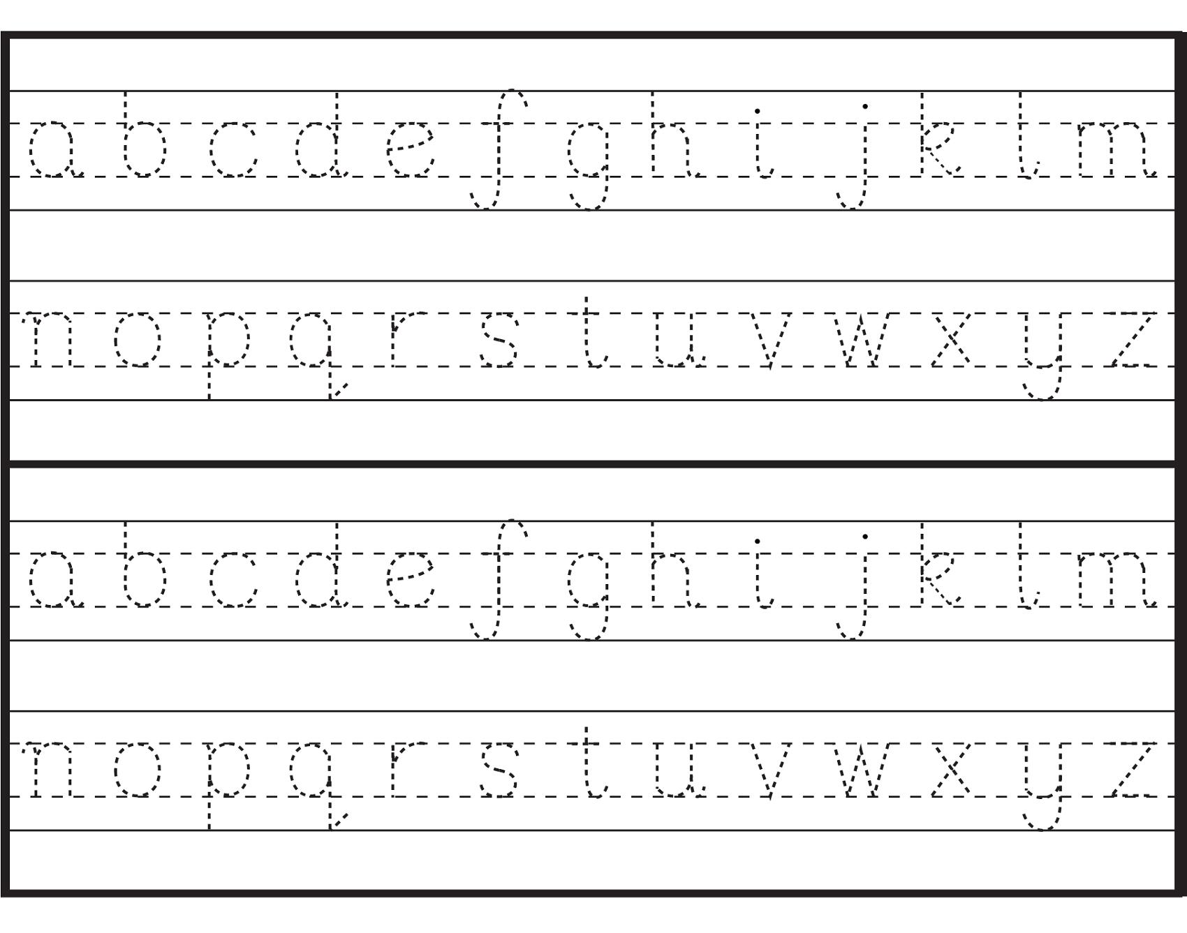Alphabet Worksheets For Kindergarten Z Worksheetfun Az regarding Tracing Lowercase Letters Az