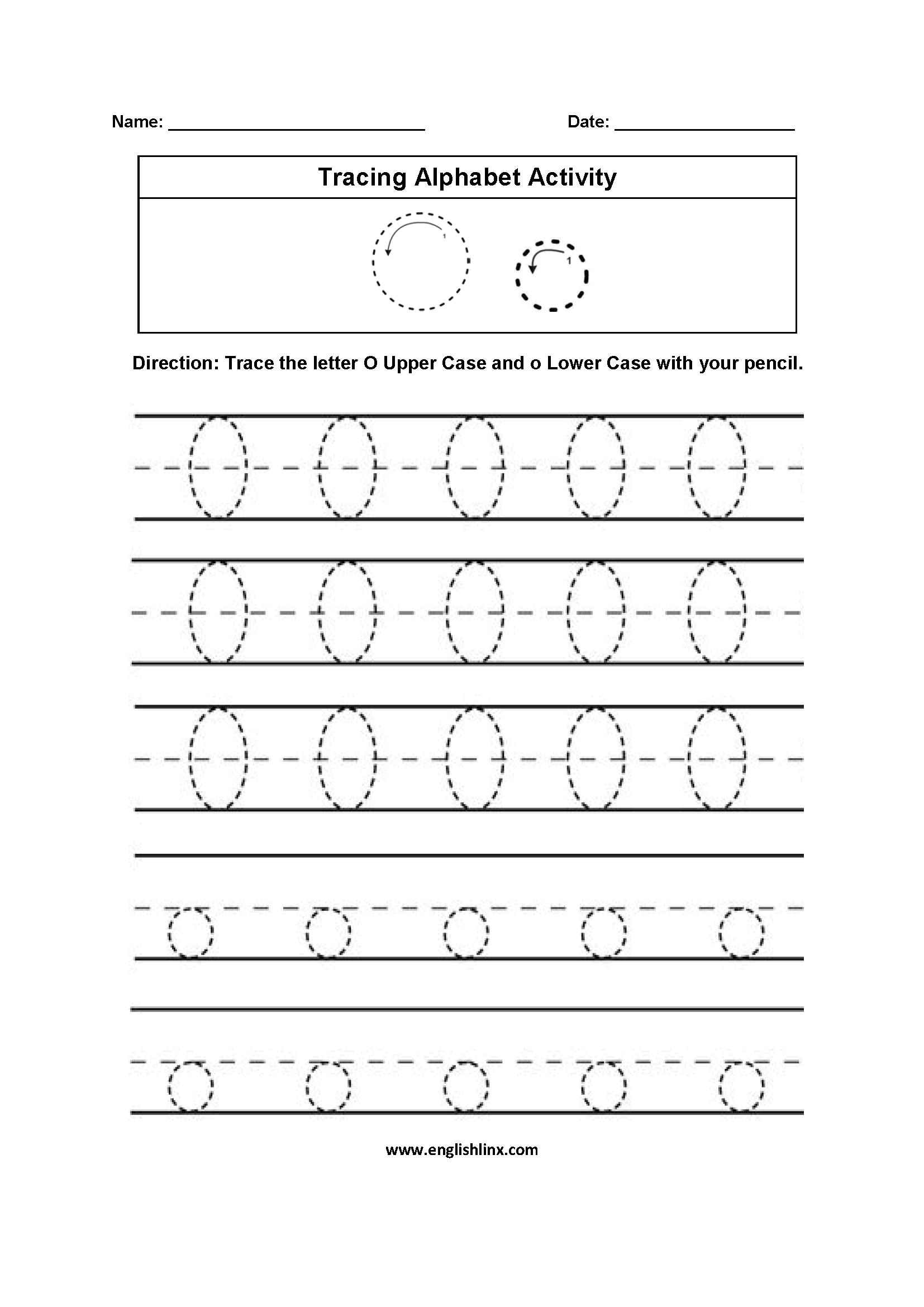 Alphabet Worksheets | Tracing Alphabet Worksheets intended for Tracing Letter O Worksheets