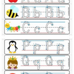 Alphabet Write And Wipe With Correct Letter Formation in Tracing Letters With Directional Arrows