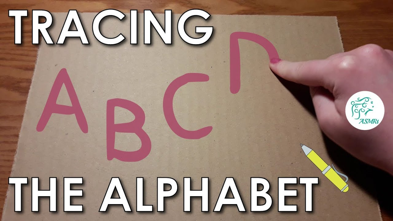 Asmr • Tracing The Alphabet • W/ Finger & Pen On Cardboard Paper within Tracing Letters With Fingers