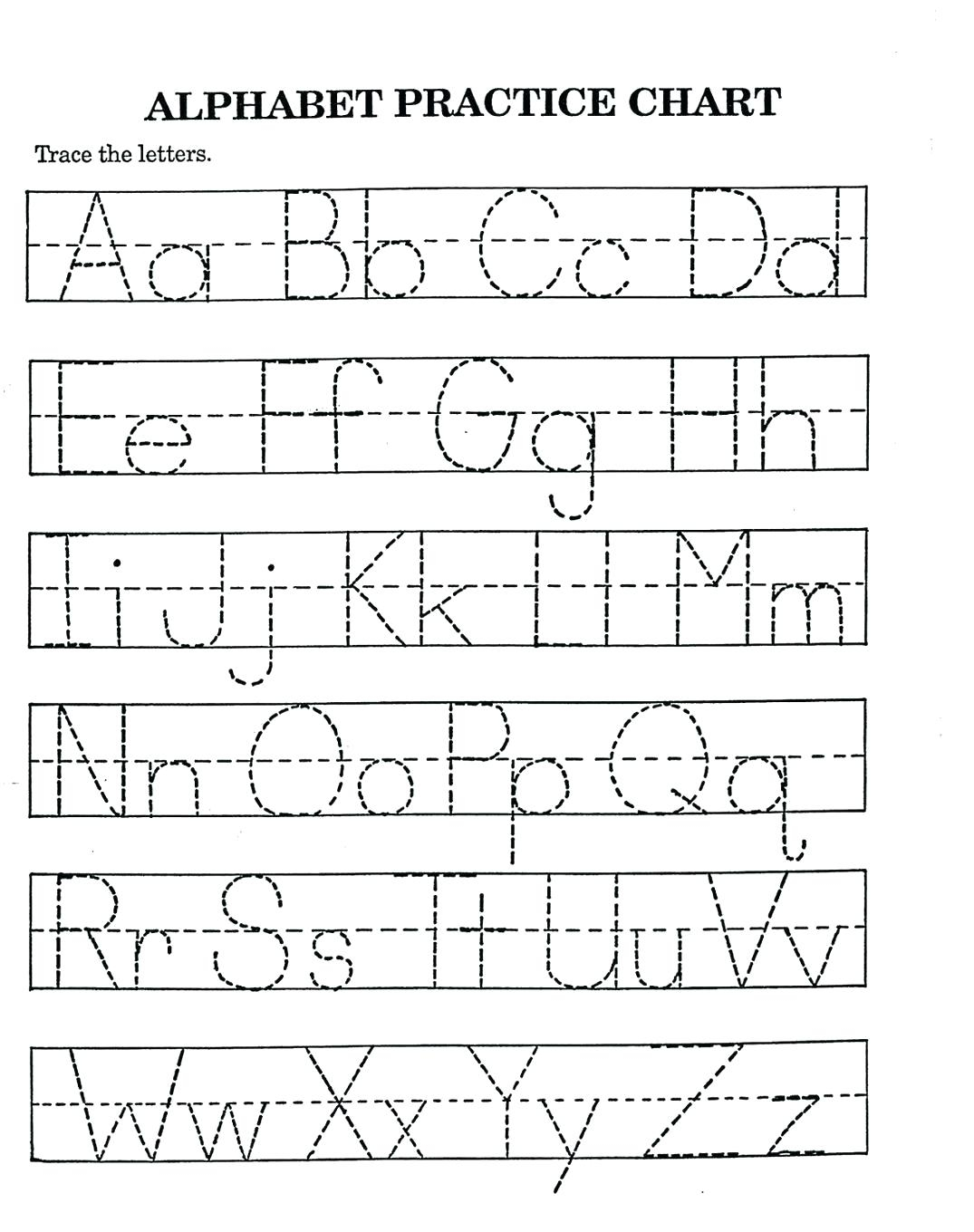 Az Printable Worksheets | Chesterudell within Tracing Letters Abc