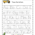 Az Worksheets For Kindergarten Letter I Tracing Worksheet M inside Free Tracing Letters Worksheet A-Z
