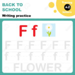 Back To School. Writing Practice Worksheet. Tracing Alphabet.. for Practice Tracing Letters