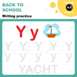 Back To School. Writing Practice Worksheet. Tracing Alphabet.. pertaining to Practice Tracing Letters