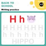 Back To School. Writing Practice Worksheet. Tracing Alphabet.. regarding Tracing Alphabet Letters Az