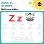 Back To School. Writing Practice Worksheet. Tracing Alphabet.. within Practice Tracing Alphabet Letters