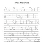 Basic Tracing Worksheets Tracing Letters A Z Worksheets Easy in A To Z Tracing Letters