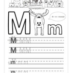 Beautiful Letter M Writing Worksheet | Educational Worksheet in Tracing Letter M Worksheets Kindergarten