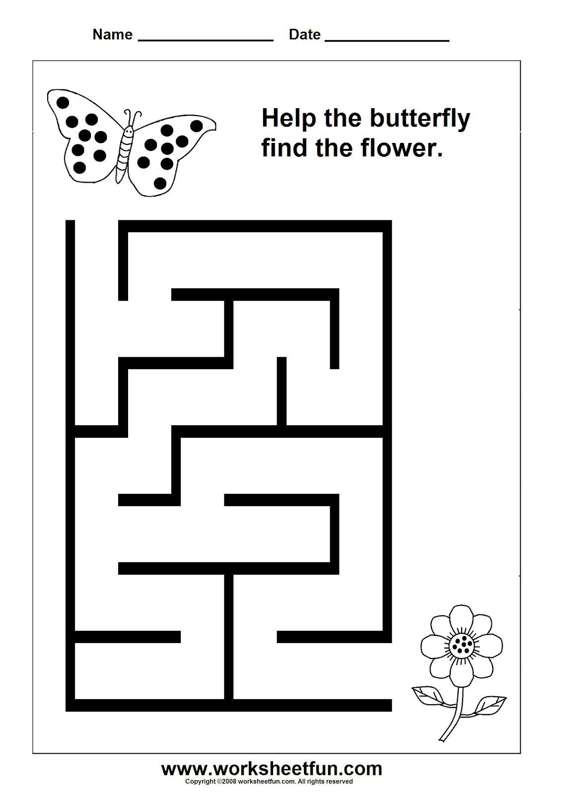 Beginner+Maze+16.bmp 1,130×1,600 Pixels | Preschool for Printactivities Com Tracing Letters Names