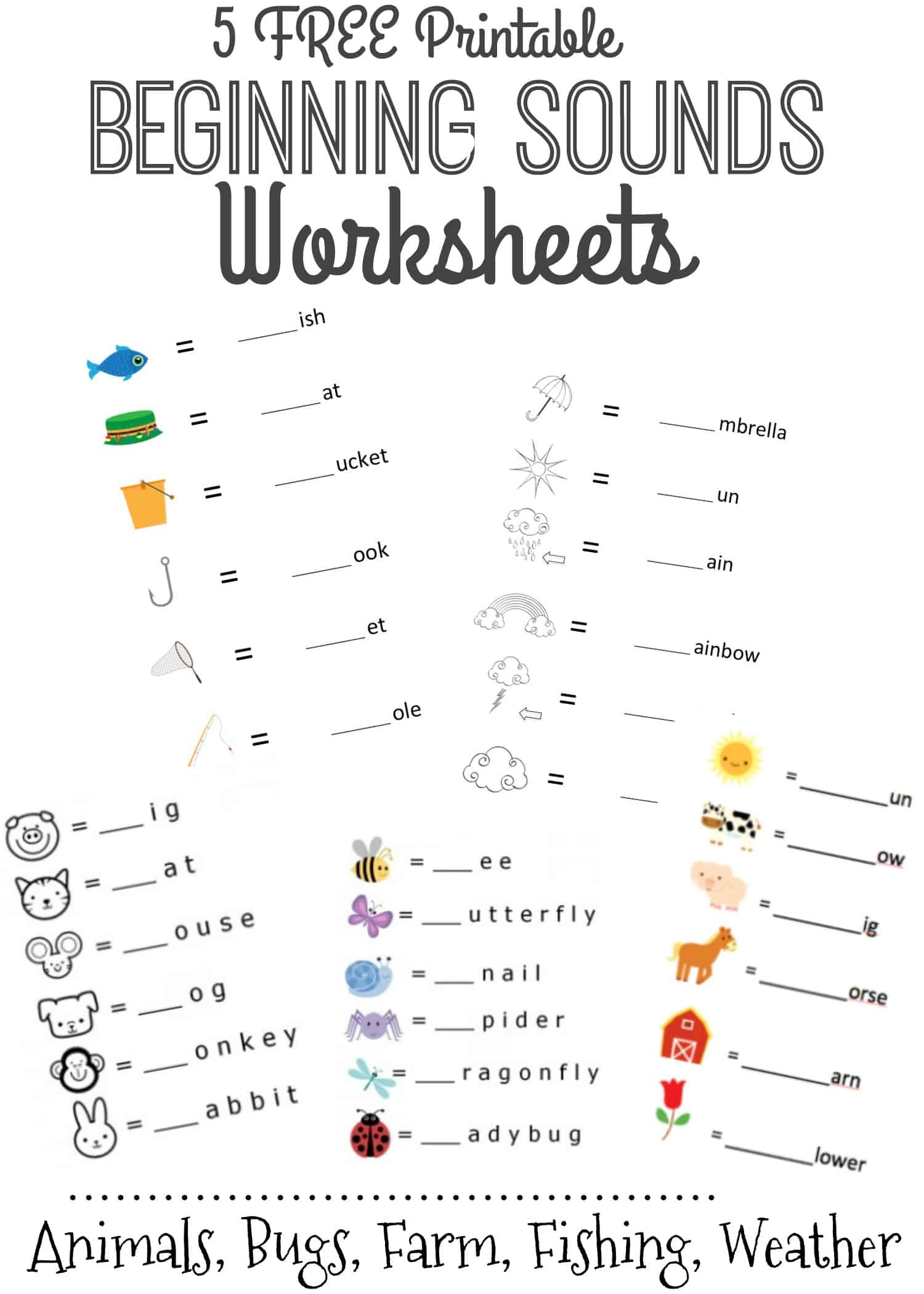 Beginning Sounds Letter Worksheets Or Early Learners Ree with regard to Pre K Tracing Letters Worksheets